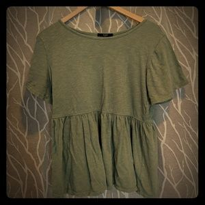 Casual empire waist top. Can fit any size!